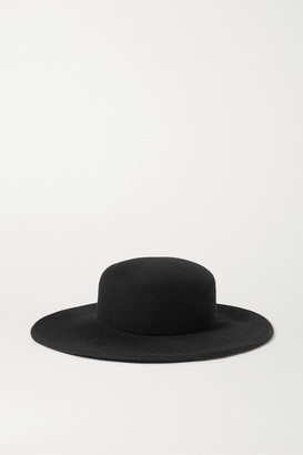 CLYDE Wool-felt Fedora - Black