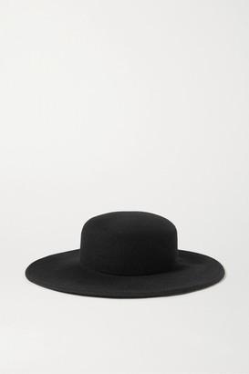CLYDE Wool-felt Fedora - Black