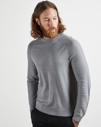 Ted Baker FOUNDIT Textured crew neck jumper