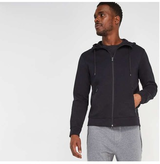 Joe Fresh Men's Zip Pocket Hoodie, JF Black (Size XL)