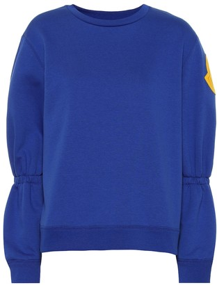 Moncler Embroidered cotton-blend sweatshirt