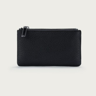 The White Company Leather Coin Pouch, Black, One Size