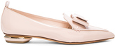 Nicholas Kirkwood Patent Leather Beya Bow Flats
