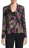 Escada Floral Jacquard Two-Button Blazer