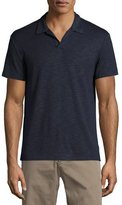 Theory Esra Anemone Short-Sleeve Slub Polo Shirt, Navy