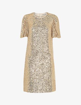 Whistles Sequin-embellished mini dress