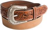 Roper Pebble-Grain Leather Belt (For Men)