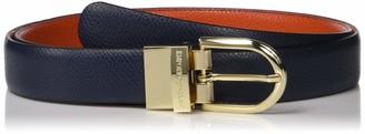 Emporio Armani Women's Deer Print Leather Belt