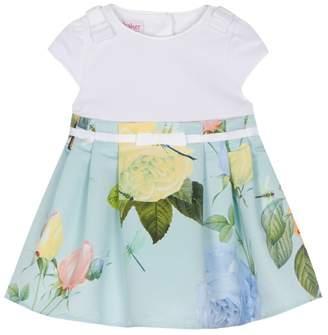 Baker by Ted Baker - 'Baby Girls' Light Green Rose Print Dress