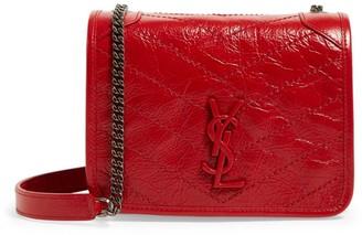 Saint Laurent Small Leather Niki Chain Wallet
