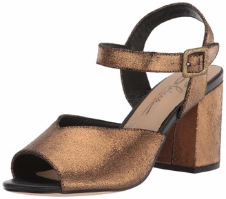 Sbicca Women's FemmeFatale Peep-Toe Ankle Strap Sandal Gold