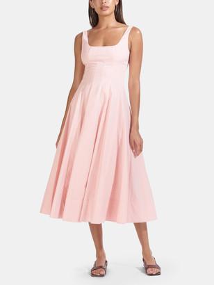 STAUD Wells Sleeveless Midi Dress