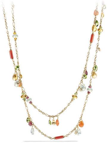 """David Yurman Bead Collection Briola 18k Dangle Necklace, 36"""""""