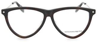 Alexander McQueen Core 55MM Aviator Optical Glasses