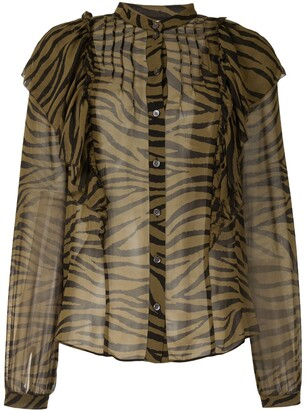 Veronica Beard Tiger Print Blouse