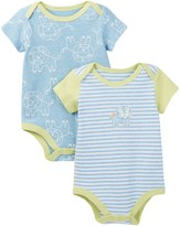 Boppy Lion Bodysuits - Set of 2 (Baby Boys)