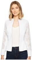 XOXO Lace Peplum Zip Jacket