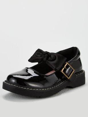 Very Girls Becca 3D Bow Chunky School Shoes - Black