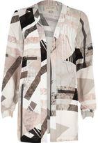 River Island Womens White print jacket