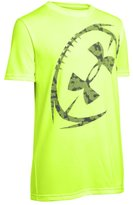 Under Armour Big Boys' UA Logo Football T-Shirt Youth Large FUEL GREEN