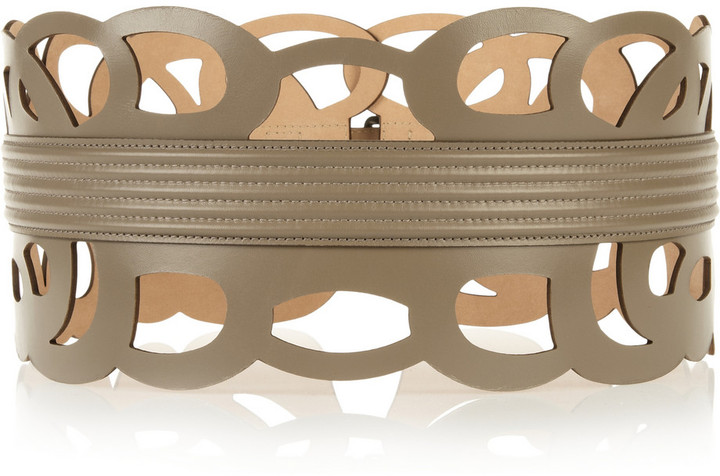 Alaia Laser-cut leather belt