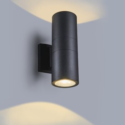 Latitude Run Brittaini Black 11 752 H Led Outdoor Armed Sconce Shopstyle