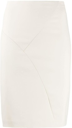 Patrizia Pepe Plain Fitted Skirt