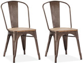 Walker Set of 2 Side Chairs, Direct Ship
