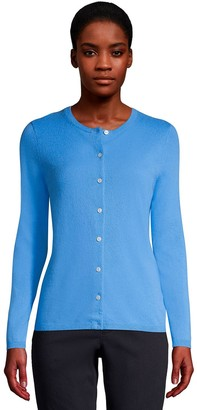 Lands' End Women's Classic Cashmere Cardigan Sweater
