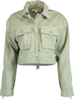 Jonathan Simkhai Cropped Cargo Denim Jacket