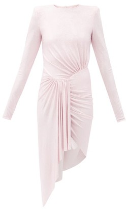 Alexandre Vauthier Crystal-studded Draped Mini Dress - Pink