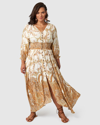 The Poetic Gypsy Brown Sugar Maxi Dress