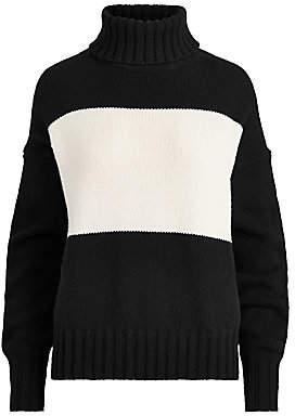 Polo Ralph Lauren Women's Wool Colorblock Turtleneck