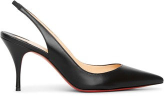 Christian Louboutin Clare sling 80 black leather pumps