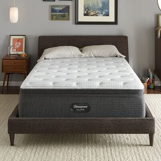 "Simmons Silver 16"" Medium Pillow Top Hybrid Mattress and Box Spring Mattress Size: Twin XL, Box Spring Height: Low Profile (5"")"