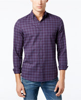 Michael Kors Men's Slim-Fit Check Print Flannel Shirt