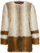 Whistles Duvall Faux Fur Coat