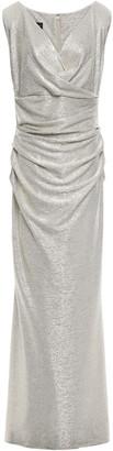 Talbot Runhof Draped Crinkled Jersey Gown