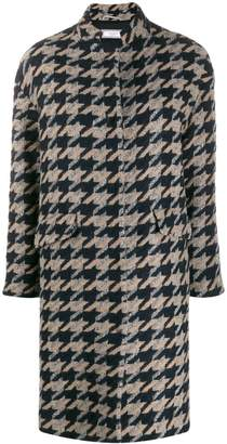 Peserico geometric pattern coat