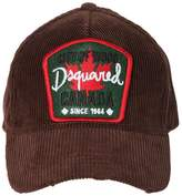 DSQUARED2 Canada Patch Corduroy Baseball Hat