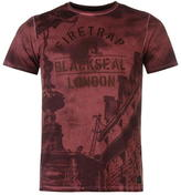 Firetrap Blackseal Piccadilly Oildye T Shirt