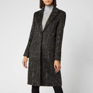 Ted Baker Women's Illena Leopard Print Cocoon Coat - Khaki - 2/UK 10