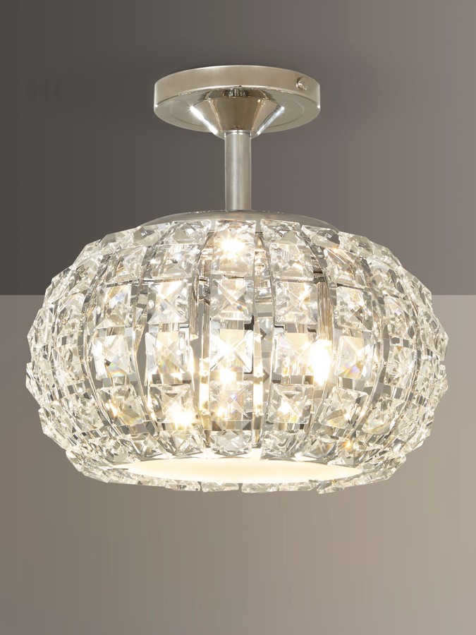 John Lewis & Partners Venus Ceiling Light, Crystal and Chrome