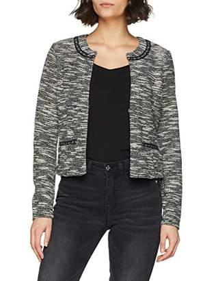 Tom Tailor Casual Women's Femininder Blazer in Boucle-Optik Suit Jacket, Black 29999, 16 (Size: Medium)
