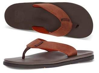 Scott Hawaii Men's Hikino Vegan Leather Sandals | Reef Walking Flip Flops for Men | Gray Neoprene Comfort Waterproof Shoes | Guarantee All Day Arch Support Comfortable Slipper