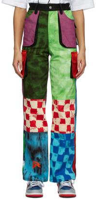 AGR Multicolor Tie-Dye Logo Cargo Pants