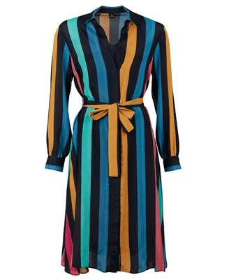 Paul Smith Rainbow Stripe Wrap Dress Colour: MULTI, Size: 12