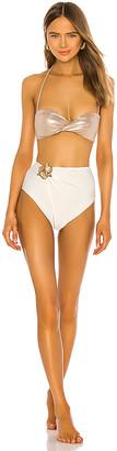 Adriana Degreas Bicolor Hot Pant Bikini Set