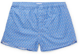 Derek Rose Ledbury Printed Cotton Boxer Shorts - Blue