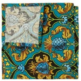 La DoubleJ Set Of Six Pineapple-print Linen Napkins - Womens - Blue Multi